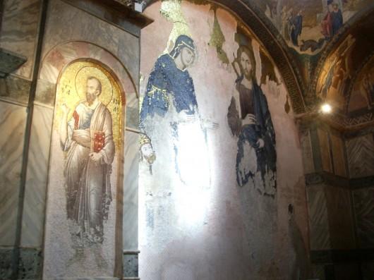 Imágenes cristianas en la iglesia de San Salvador, Estambul