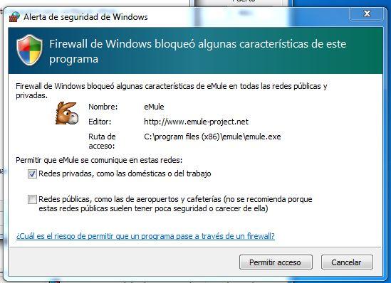 Añadir excepción al Firewall de Windows