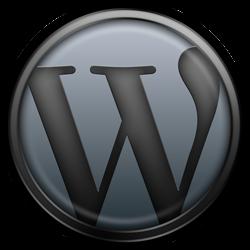 Logo de WordPress gris
