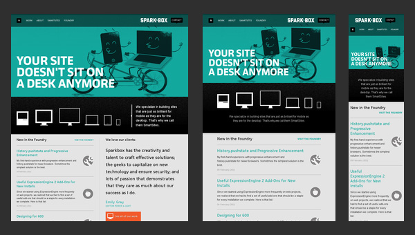 Responsive Design en seesparkbox