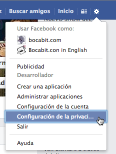 Configuracin de Facebook