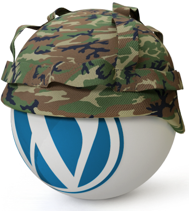 Logo de Wordpress con casco